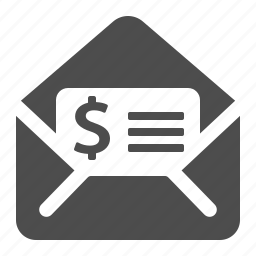 bill, envelope, invoice, letter, mail icon