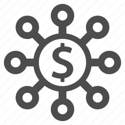 business, coin, dollar, finance, money, share, sharing icon