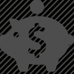 dollar, money, piggy bank, savings icon