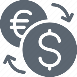 conversion, currency, dollar, euro, finance icon