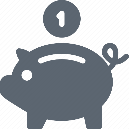 bank, banking, coin, finance, money, piggy, saving icon