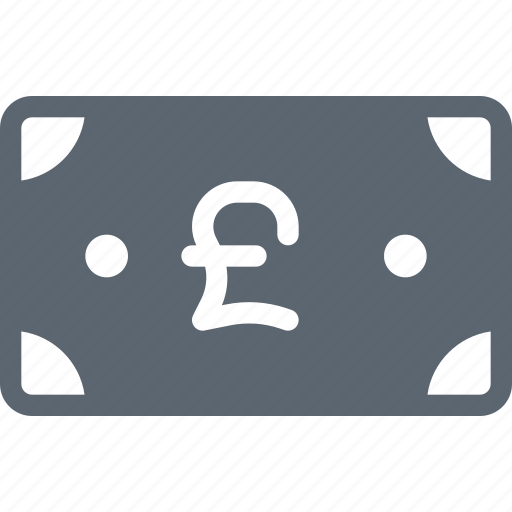 bill, cash, currency, finance, money, pound icon