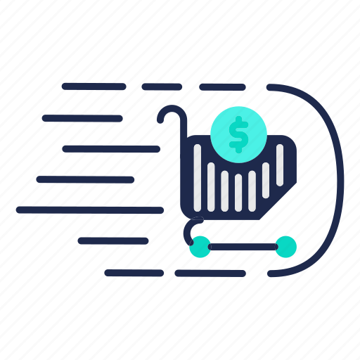 ecommerce, market, money flow, shopping, store, trends icon