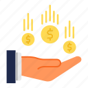 banking, flow, money, money flow, payment icon