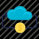 business, cloud, flow, internet, money, online icon