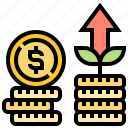 benefits, growth, income, investment, revenue icon