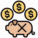 essential, expense, non, pay, unnecessary icon