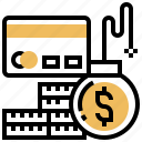 credits, debt, financial, liability, payment icon