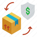 business, guard, insurance, management, package, parcel icon