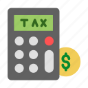 audit, calculation, finance, income, sale, tax icon