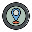 location finder, location, gps, navigation, arrow