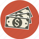 business, cashier, currency, discount, dollar, euro, finance, guardar, money, papers, pay, payment, pund, save, shopping, yen icon