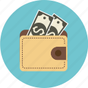 cash, coins, dollar, euro, money, paper, payment, port, shopping, wallet icon
