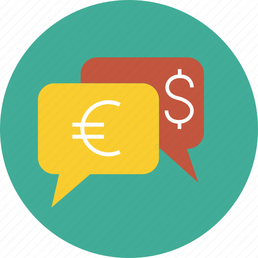 currency, dialog, dollar, euro, finance, money, transaction, yen icon