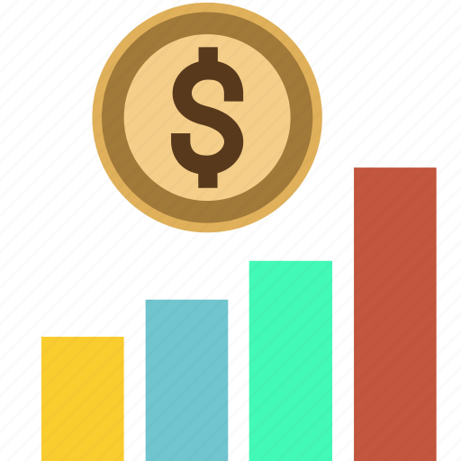 arrow, chart, dollar, graph, income, money, sales, tower, up icon