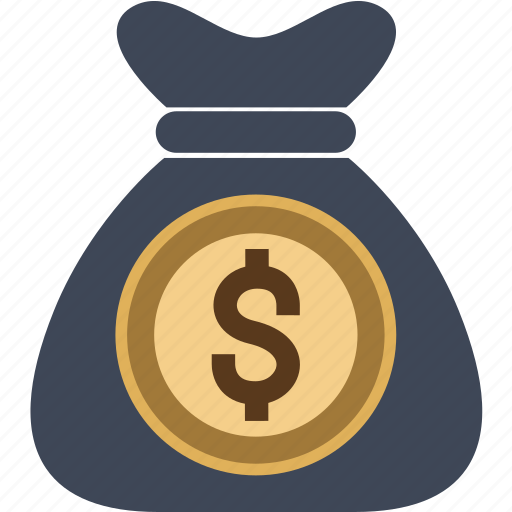 bag, bank, dollars, euro, money, moneybag, us icon