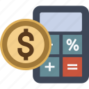 banking, budget, business, calculator, currency, dollar, euro, finance, money icon