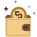 shopping, money, coins, dollar, cash, payment, wallet, port, euro icon