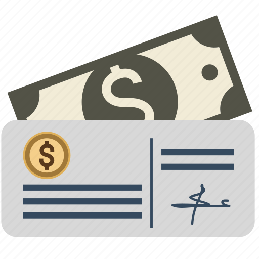 bank, check, cheque, dollar, estate, euro, finance, money, papers, pen, real, sign icon