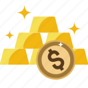 bank, bars, biscuits, bricks, gold, goldbars, money, precious, stack, watchkit icon
