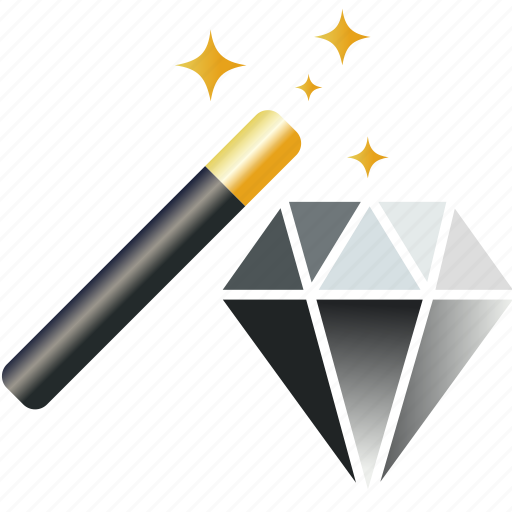 best, diamond, gem, jewelry, magic, money, premium, quality, value, wand icon