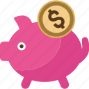 bank, box, coin, dollar, money, pig, piggy, safe, saving, savings icon