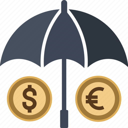 business, cash, coin, currency, dollar, euro, finance, insurance, money, protect, transaction, yen icon