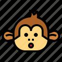 monkey, animal, mammal, wildlife, shocked