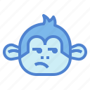 monkey, animal, mammal, wildlife, bored