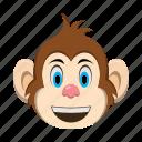 emoji, emoticon, monkey, smile happy icon