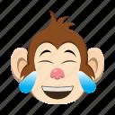 emoji, emoticon, happy, monkey, smile icon