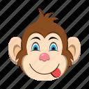emoji, emoticon, monkey, tongue icon