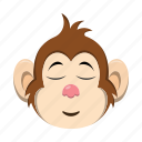emoji, emoticon, happy, monkey icon
