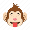 emoji, emoticon, monkey, tongue icon
