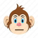 emoji, emoticon, monkey, reactionless icon