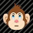 emoji, emoticon, eye, monkey icon