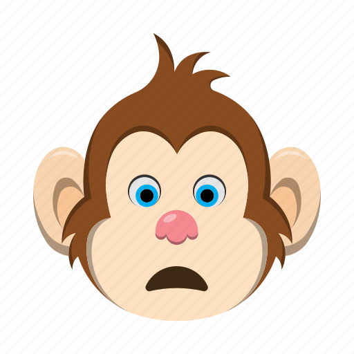 emoji, emoticon, monkey, surprised icon
