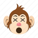 dead, emoji, emoticon, monkey icon