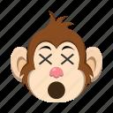 dead, emoji, emoticon, monkey icon