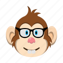 emoji, emoticon, monkey, sunglass icon