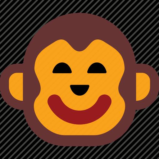 emoticon, expression, face, happy, monkey icon