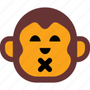 emoticon, face, happy, monkey, sad icon