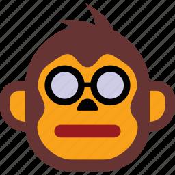 emoji, emoticon, emoticons, expression, face, monkey icon