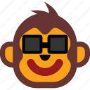 emoticon, expression, face, happy, monkey icon