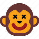 emoticon, face, monkey, sad, smiley icon