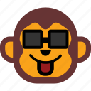 emoticon, monkey, face, expression, happy