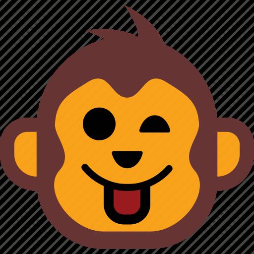 emoticon, face, happy, monkey, smiley icon