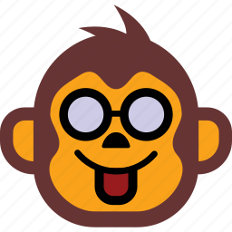 emoticon, face, monkey, sad, smiley icon