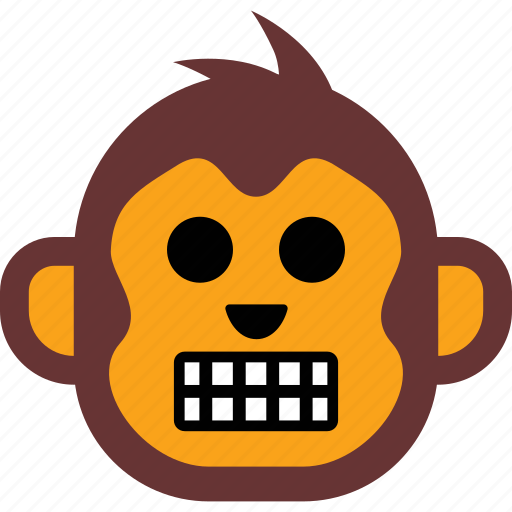 emoticon, expression, face, monkey, smiley icon