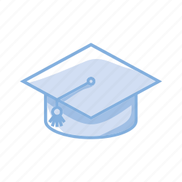 degree, diploma, hat, learn, school icon